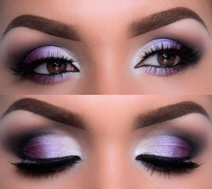 purple with shimmer