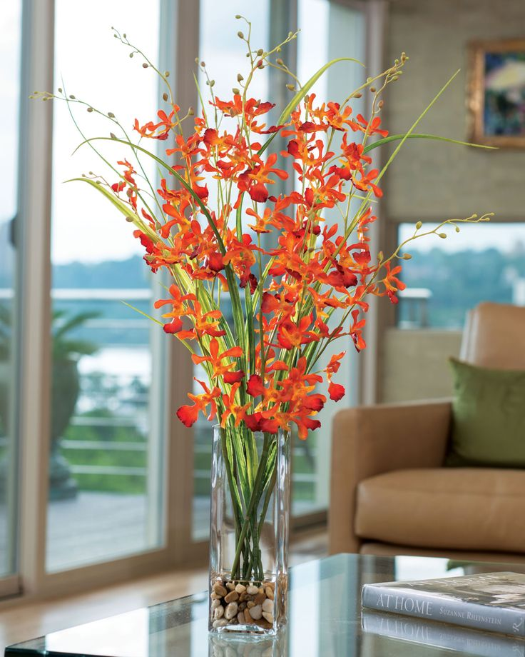 Artificial Flowers In Square Vase Flowers Healthy